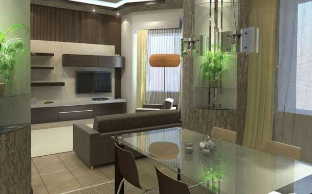 кухня спланирована в современном дизайне