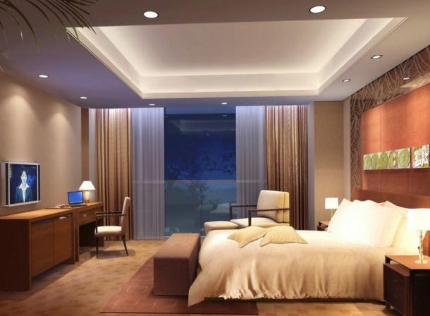 освещение в спальне, потолочные светильники