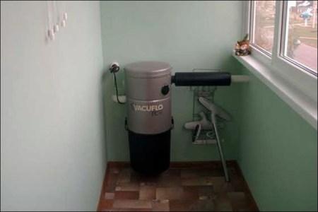 силовой агрегат пылесоса на лоджии
