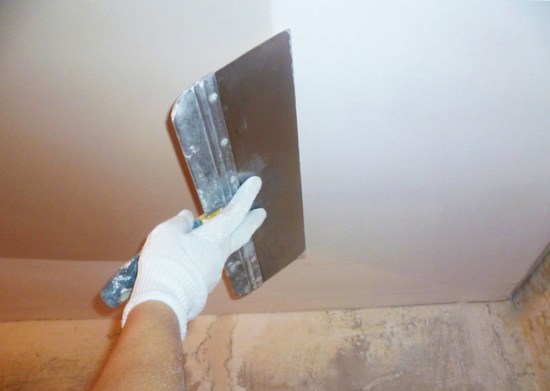 Полимерная шпаклевка на потолок