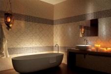 Мозаика из плитки в ванной