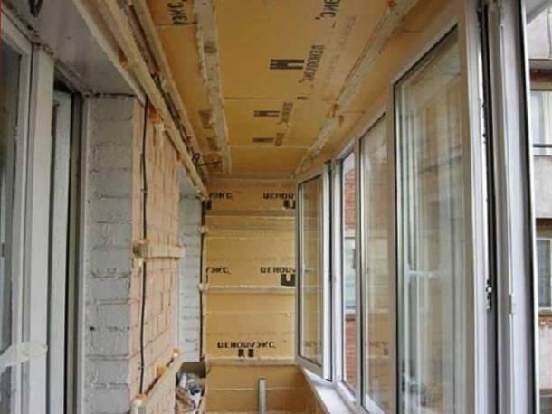 звукоизоляция балкона утеплителем