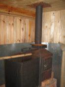Грубая банная металлическая печь