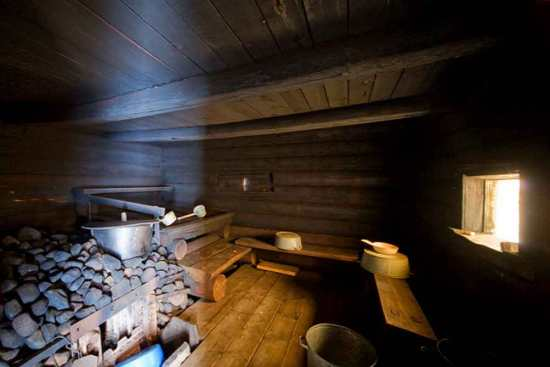 русская баня, интерьер из дерева
