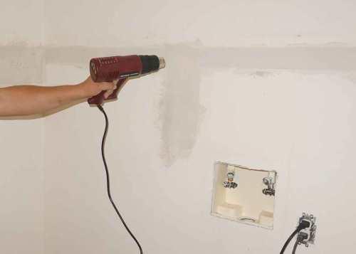 Ускорить высыхание краски - сушка феном