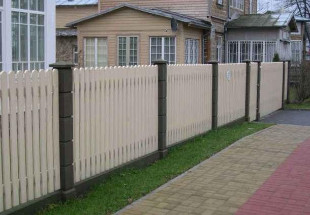 поставить забор на даче