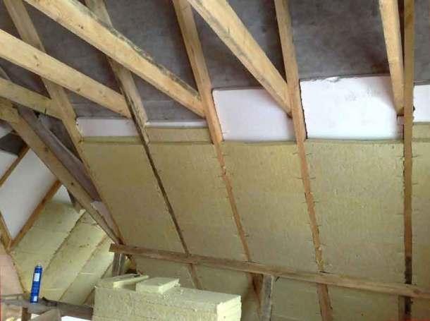 утепление крыши минватой и полистиролом