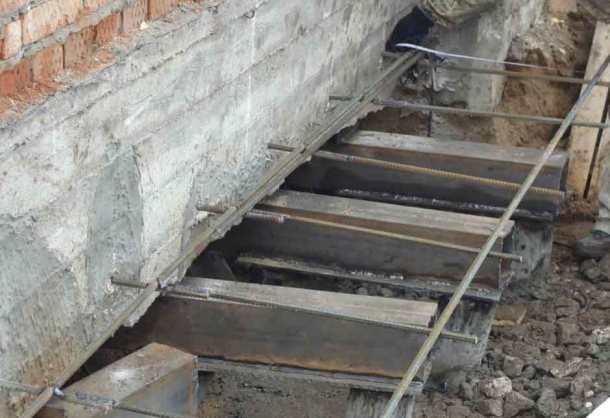капитальный ремонт ленточного фундамента