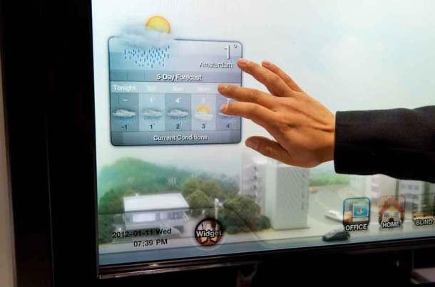 окна с климат контролем - LCD панель