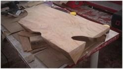 Шлифовка древесины столешницы тумбы