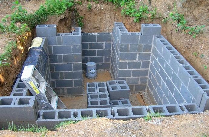 погреб из стеновых керамзитных блоков