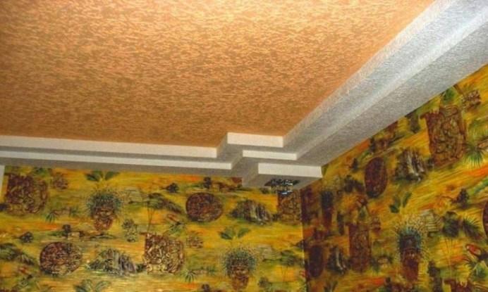 декоративная штукатурка на потолке в детской комнате