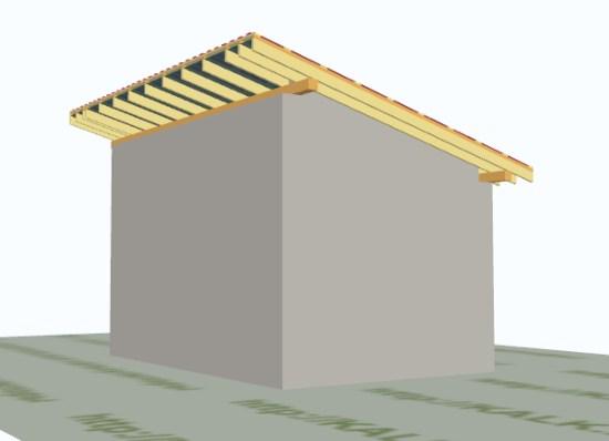 односкатная крыша, сарай