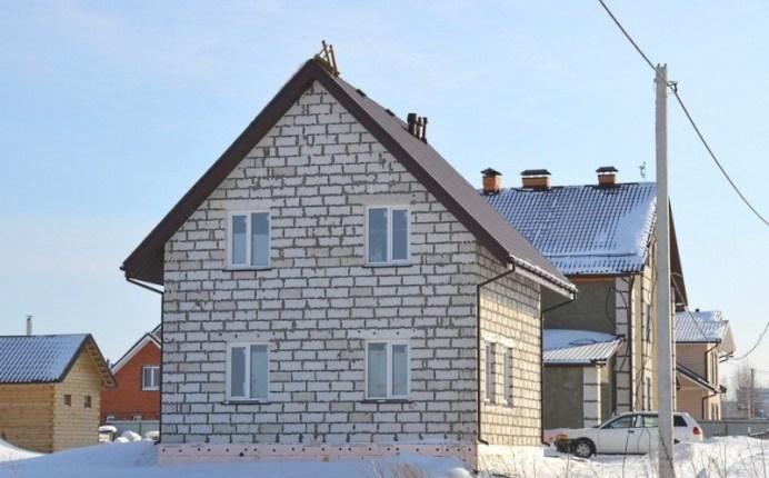 дом из газоблока недорогой