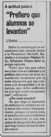 """Piñera: """"Prefiero que alumnos se levanten"""""""