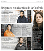 """Polémica por publicación de puntajes PSU y NEM de dirigientes de la CONFECH en """"El Mercurio"""" (4/4)"""