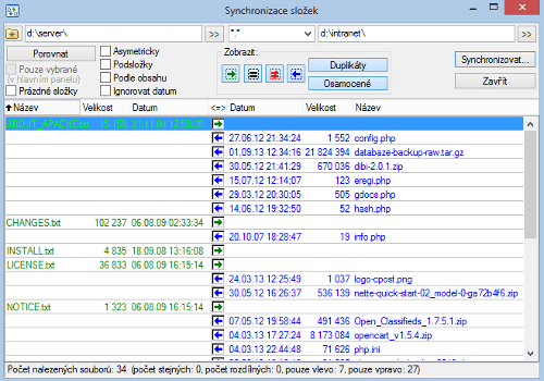 tcm-synchronizace