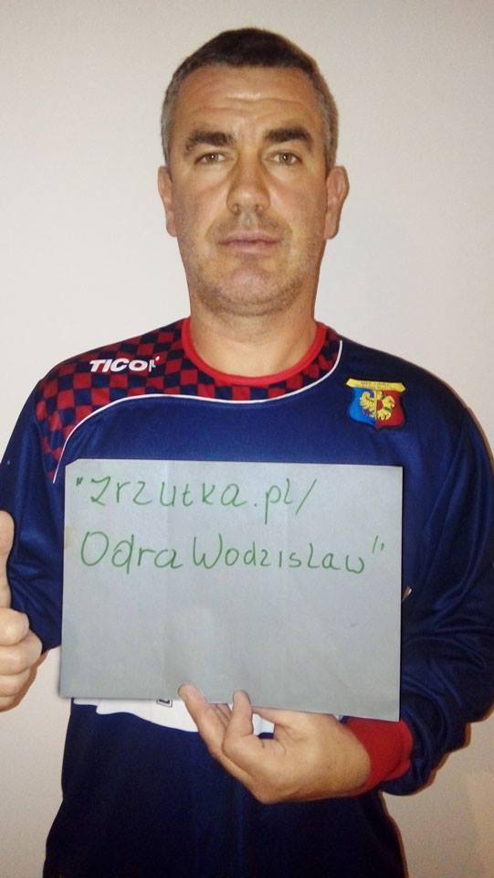 Jan Woś zrzutka na Odrę