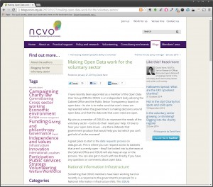NCVO National Information Infrastructure Article