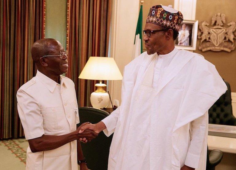 APC Crisis: Oshiomhole Meets Buhari In Aso Rock