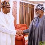 [PHOTOS] Buhari, Akeredolu Meet Over Amotekun