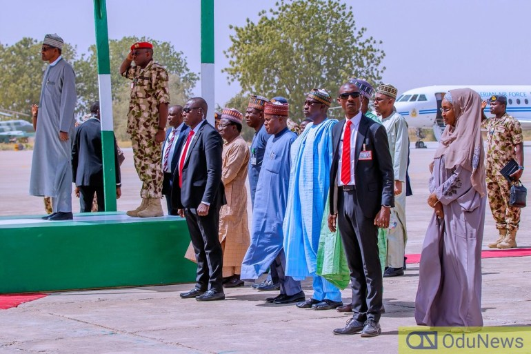 Buhari visited Borno on Wednesday, February 12, 2020