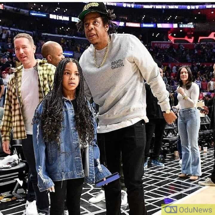 Blue Ivy with her dad Jay-Z