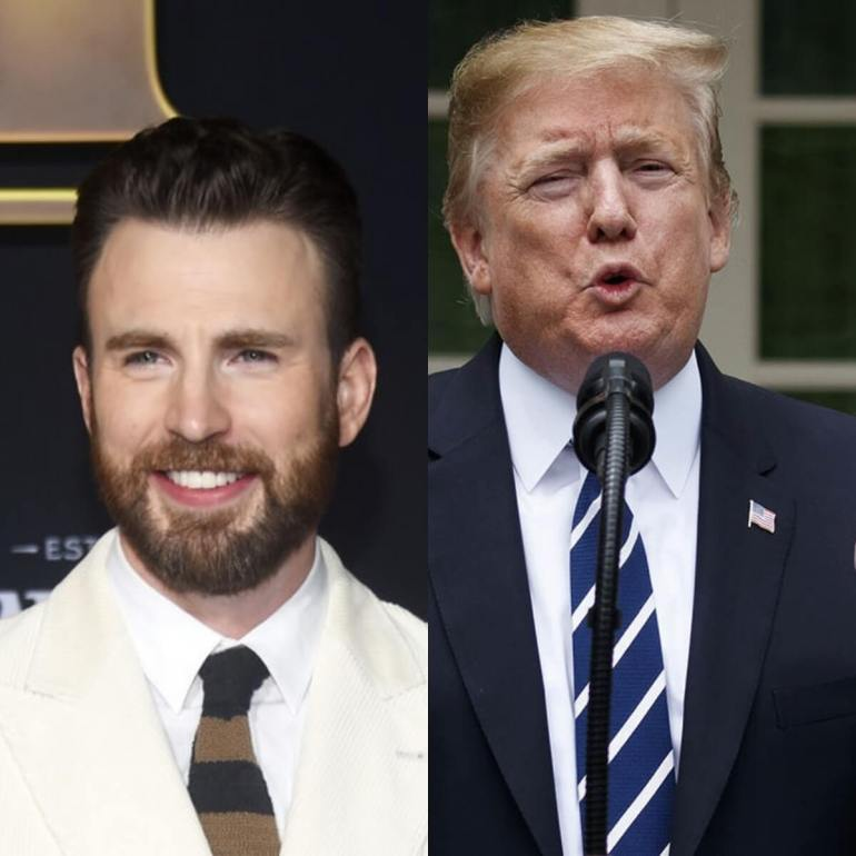 Coronavirus: Chris Evans Fires At President Trump for running away during press briefing
