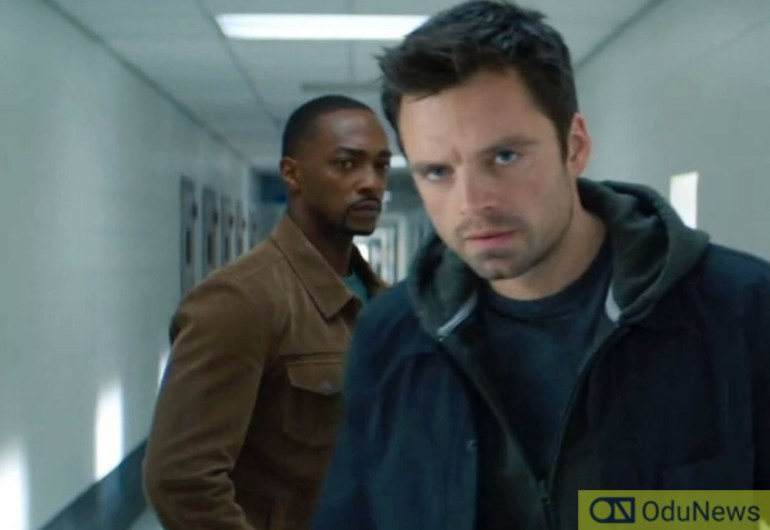 Sebastian Stan and Anthiny Mackie in THE FALCON & THE WINTER SOLDIER