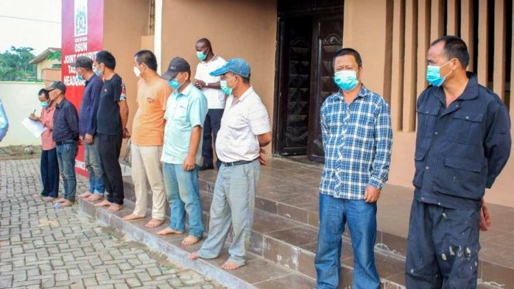 Amotekun Arrest Ten Chinese In Osun For Illegal Minning