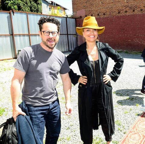 J.J. Abrams and Victoria Mahoney