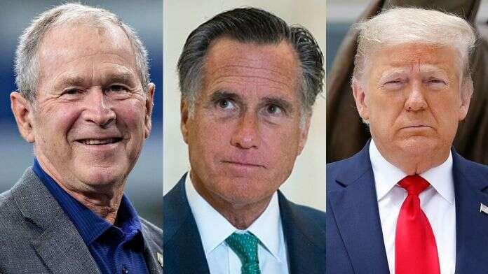 Geaorge Bush, Mitt Romney Won't Support Trump's Reelection