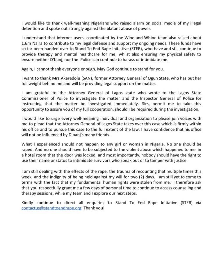 Seyitan's Press Statement