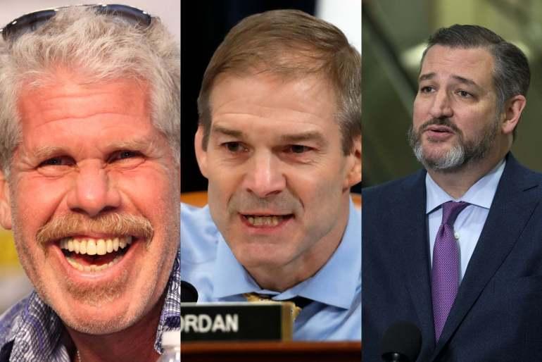 Ted Cruz Challenges Ron Perlman Against Jim Jordan, Calls Him 'Rich' But 'Soft'