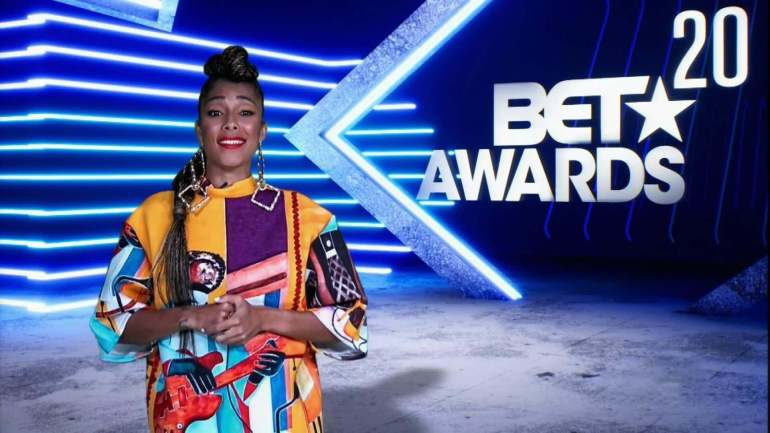 Amanda Seales at the 2020 BET Awards