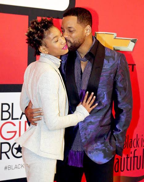 Willow Smith and her dad Will Smith