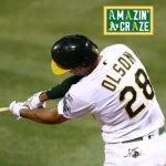 Matt Olson Hits Grand Slam To Give A's 7-3 Win vs. Angels [VIDEO]
