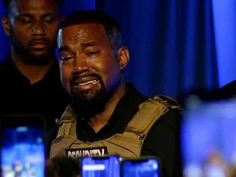 Kanye West Shed Tears At First Presidential Rally