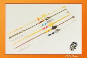 Bracelet Ethnique Tendance Minimaliste Pendentif et Perles