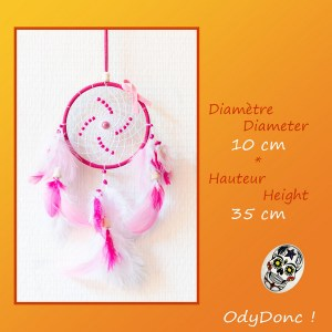 Attrape Rêves Dreamcatcher Mobile Zen Octobre Rose