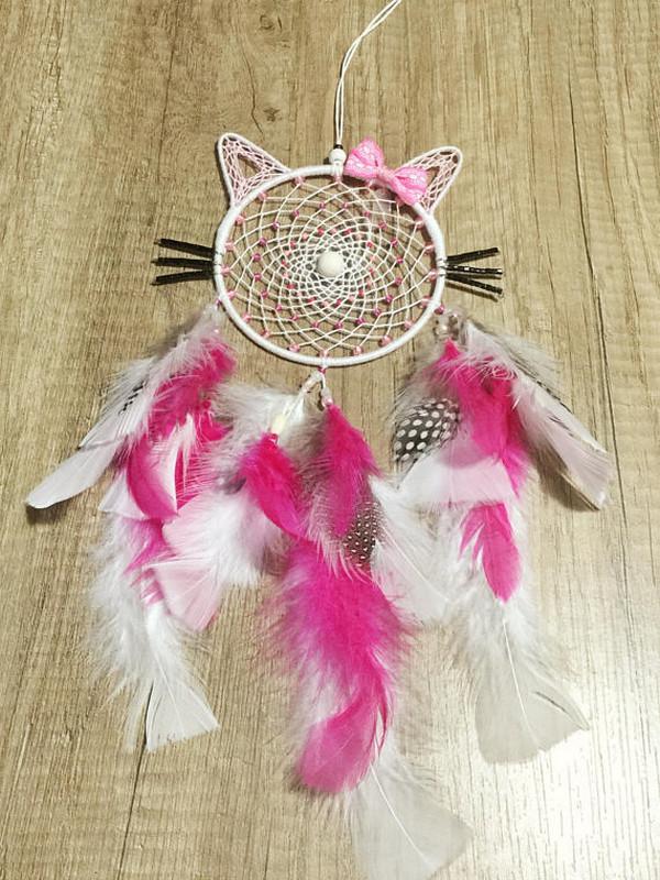 Attrape Rêves Dreamcatcher Kitty Personnalisable Mobile Choix Couleurs
