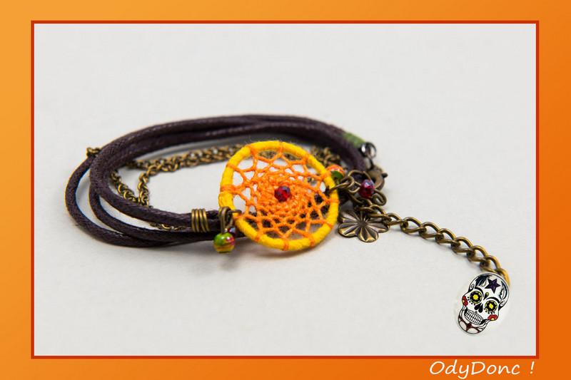 Bracelet Inspiration Automne Dreamcatcher Pendentif Attrape Rêves Artisanal