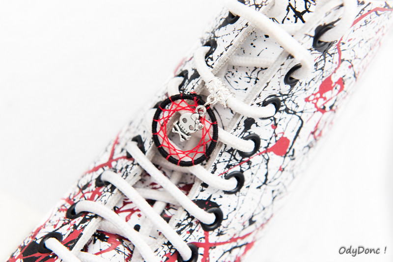 Bijoux de Chaussures Ethniques Personnalisables – Modèle N°3 : 1 pendentif fixé à une bélière