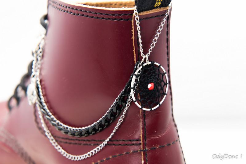 bijou de chaussures 3 chaînettes