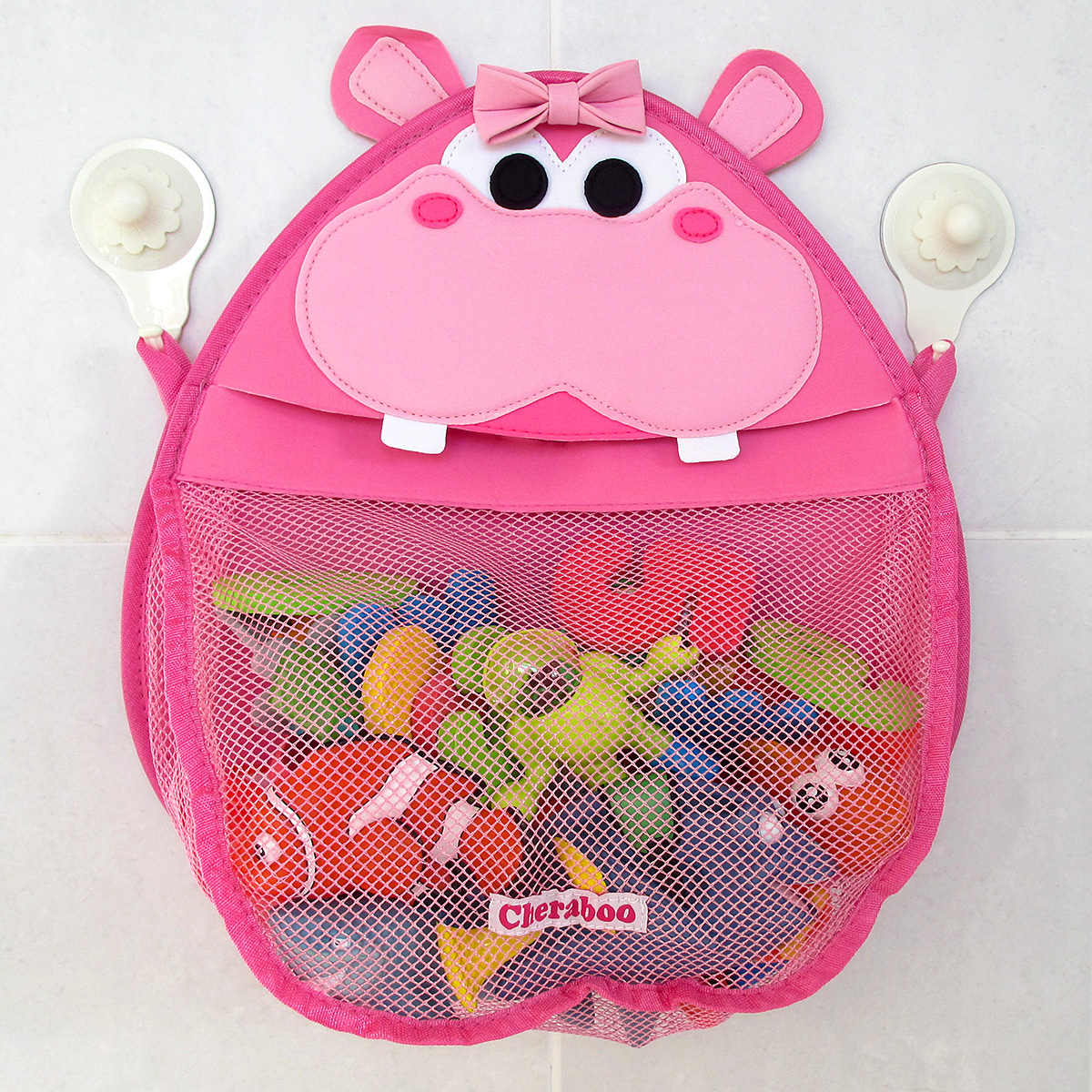 Henrietta hippo girls bath toy organizer