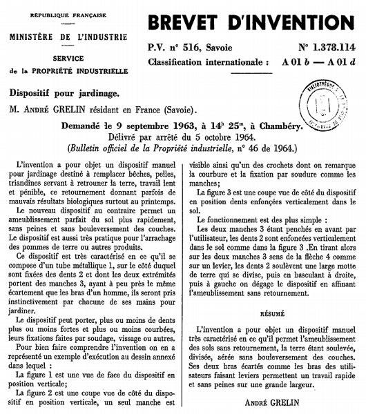 grelinette-brevet
