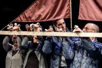 Die Heimkehr des Odysseus Inszenierung Christian Georg Fuchs Bühnenbild Christian Georg Fuchs Kostüme Mila van Daag Theater Erfurt, Theater Waidspeicher Premiere 20. Februar 2016, Studiobühne