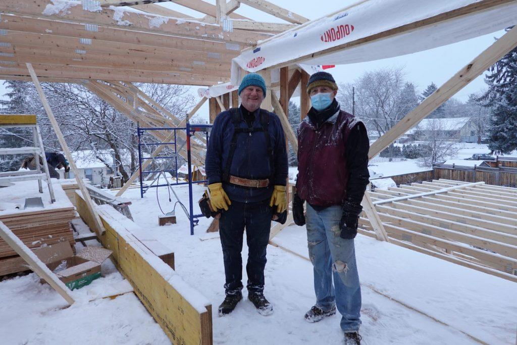 Albert, our builder, & Craig