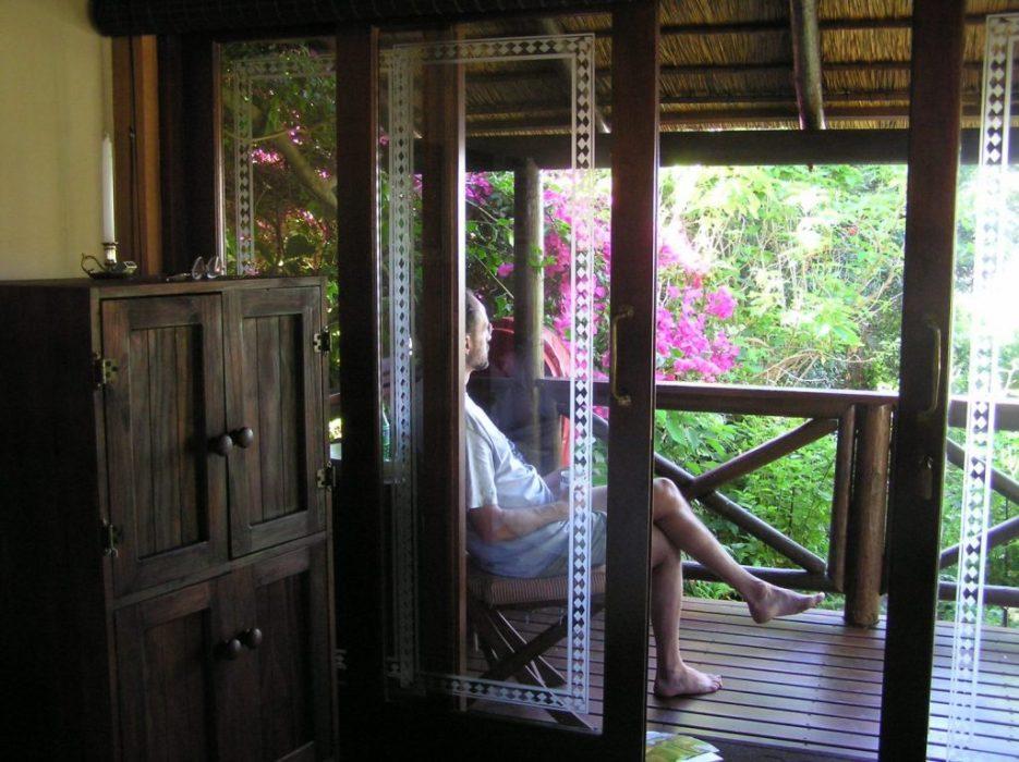 our verandah at Jean & Jaques' b & b