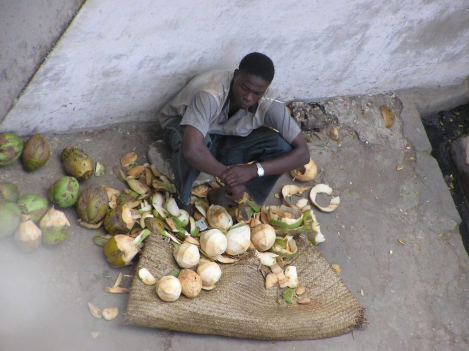 selling coconuts